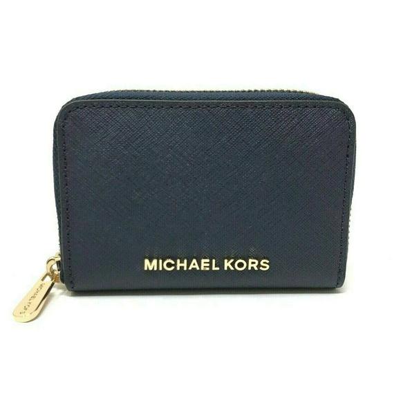71b1c9c76a63 Michael Kors Bags | Jet Set Travel Zip Around Wallet Navy | Poshmark
